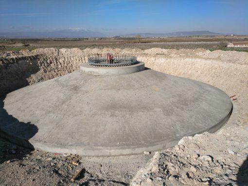 Estructura de hormigón para los Parques eólicos de Las Navas, Los Cierzos, Tinajeros y Agon